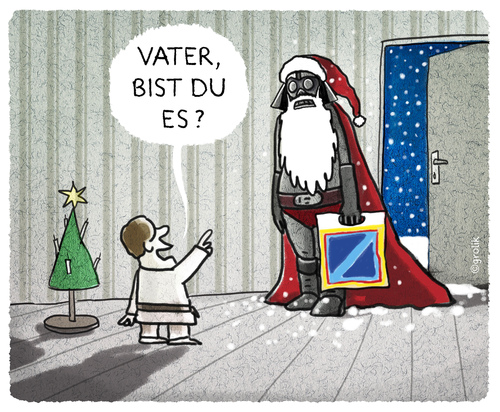 Cartoon: ..die Kaufkraft sei mit Dir... (medium) by markus-grolik tagged george,aldi,vader,darth,kino,skywalker,wars,star,lucas,nikolaus,konsum,kapitalismus,medien,event,grolik,cartoon,santa,claus,darth,vader,aldi,george,lucas,star,wars,skywalker,kino,nikolaus,konsum,kapitalismus,medien,event,grolik,cartoon,santa,claus