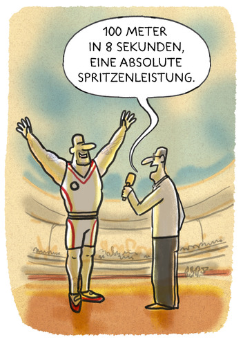 Cartoon: ..olympisch... (medium) by markus-grolik tagged doping,olympia,russland,spitzensport,usa,eigenblut,rio,funktionäre,kontrolle,doping,olympia,russland,spitzensport,usa,eigenblut,rio,funktionäre,kontrolle
