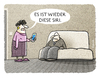Cartoon: ... (small) by markus-grolik tagged siri,sprachsteuerung,handy,smartphone,betriebssystem,apple,phone,ehepaar,cartoon,grolik
