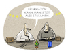 Cartoon: .... (small) by markus-grolik tagged amazon,monopol,aldi,streamen,konzern,markt,märkte,konsum,konsumenten,usa,google,streaming