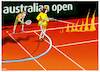 Cartoon: ...australisches Finale... (small) by markus-grolik tagged buschfeuer,australien,umwelt,klimawandel,co2,kohle,kohleabbau,melbourne,sydney,sport,erde,weltklima,umweltkatastrophen,tennis