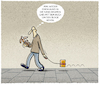 Cartoon: ...bibliophil... (small) by markus-grolik tagged lesen,buch,hund,gassi,haustier,leser,wortspiel