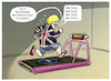 Cartoon: ...Home-Trainer... (small) by markus-grolik tagged no,deal,brexit,premierminister,boris,johnson,london,europa,eu,austritt,austrittsverhandlungen,england