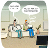 Cartoon: Langeweile... (small) by markus-grolik tagged chllen,langeweile,entschleunigung,streaming,freizeit