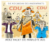 Cartoon: Misstöne in der CDU (small) by markus-grolik tagged cdu,andenpakt,friedrich,merz,roland,koch,wolfgang,schäuble,akk,merkel,groko,kanzlerkandidatur,parteivorsitz,junge,union,urwahl,partei,seilschaft