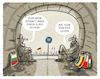 Cartoon: Subventionen... (small) by markus-grolik tagged bulgarien,rumaenien,polen,ungarn,evp,stimmen,subventionen,rechtsstaat,euro,bruessel,eu,europa,ursula,von,der,leyen