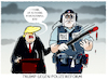Cartoon: Trump lobt... (small) by markus-grolik tagged polizeigewalt,black,lives,matter,george,floyd,minneapolis,trump,biden,usa