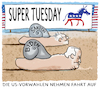 Cartoon: Zweikampf (small) by markus-grolik tagged us,vorwahlen,biden,sanders,supertuesday,usa,demokraten