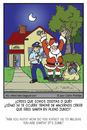 Cartoon: Santa in June (small) by Juan Carlos Partidas tagged santa,thief,claus,san,nicolas,ladron,chimenea,junio,june,police,botin