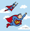 Cartoon: Super (small) by Juan Carlos Partidas tagged super,superman,superhero,superheroe,hombre,acero,man,steel,movie,comic,comics,character,size,talla,extra,xl,large,suit,traje,logo,sign,signo,clark,kent,kalel,fly,flying,sky