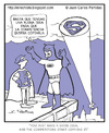 Cartoon: The Dark Knight is upset (small) by Juan Carlos Partidas tagged batman,dark,knight,superman,robin,superhero,hero,heroe,bat,signal,competitor,competencia,comics