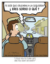 Cartoon: Upset GPS (small) by Juan Carlos Partidas tagged gps,deaf,upset,instructions,drive,driving,travel,address