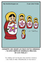 Cartoon: Warning (small) by Juan Carlos Partidas tagged matryoshka,daughters,daughter,pregnant,pregnancy,warning,shame,upset,mother,kids,example