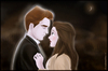 Cartoon: Under The Moon (small) by condemned2love tagged twilight,love