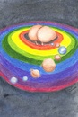 Cartoon: parade in gay universe (small) by navojca tagged parade,gay,universe,rainbow,tolerance,cosmos