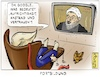 Cartoon: Fortbildung (small) by Justen tagged trump,rouhani,usa,iran,google,flugzeugabsturz