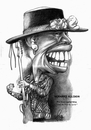Cartoon: Bernard Allison (small) by Szena tagged blues,guitarist,bernard,allison,caricature