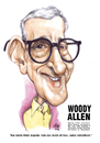 Cartoon: Woody Allen (small) by Szena tagged woody,allen,author,band,director,usa,humor