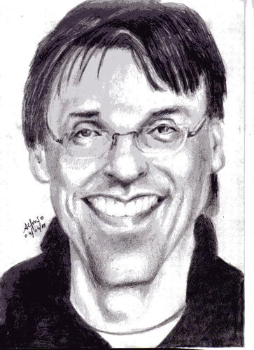 Cartoon: Caricatura del concurso Draw me. (medium) by Alfonso tagged portrait
