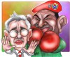 Cartoon: Uribe-Chavez (small) by rubenquiroga tagged politica chavez uribe
