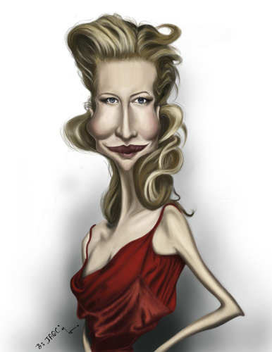 Cartoon: Cate Blanchett (medium) by jaime ortega tagged cate,blanchett