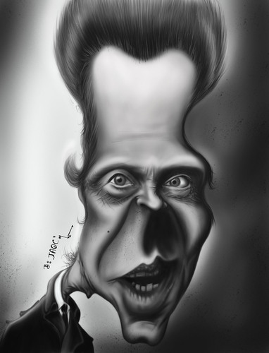 Cartoon: Christopher Walken... (medium) by jaime ortega tagged christopher,walken