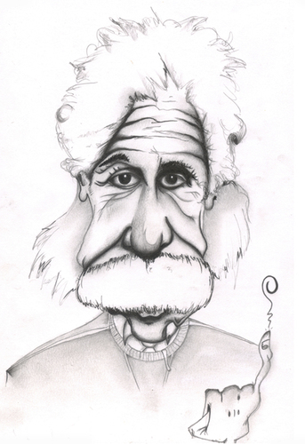 Cartoon: Einstein (medium) by jaime ortega tagged genio,inteligencia,judio,sabiduria,albert,einstein