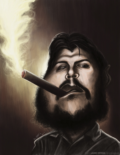 Cartoon: El Che Ernesto Guevara (medium) by jaime ortega tagged guevara,ernesto,che,el