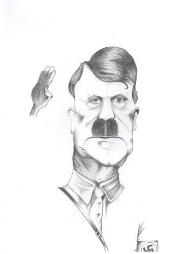 Cartoon: Hitler (medium) by jaime ortega tagged lider,nazi,aleman,alemania,holocausto,dictador,politico,judio,antisemita,genocidio