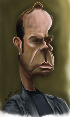 Cartoon: Hugo Weaving (medium) by jaime ortega tagged hugo,weaving