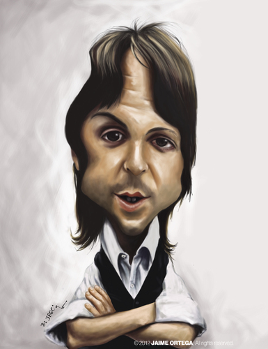 Cartoon: Paul Mccartney (medium) by jaime ortega tagged paul,mccartney