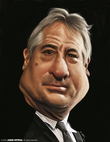 Cartoon: Robert De Niro (medium) by jaime ortega tagged robert,de,niro