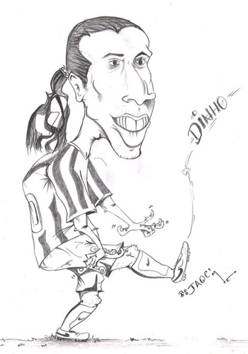 Cartoon: Ronaldhino (medium) by jaime ortega tagged brazil,futbol,fottbal,el,10,ronaldhino