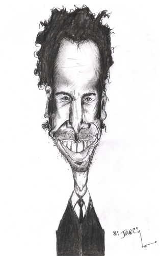 Cartoon: sacha baron cohen (medium) by jaime ortega tagged borat,sacha,baron,cohen