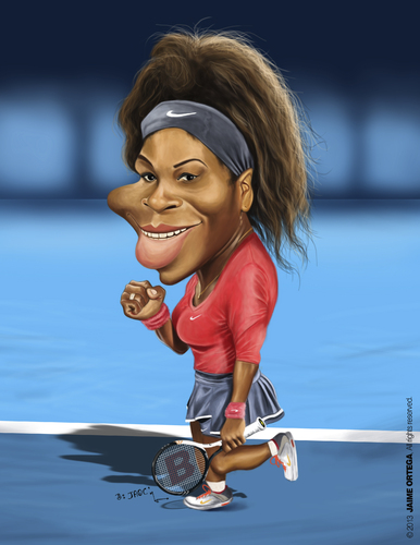 Cartoon: Serena Williams (medium) by jaime ortega tagged serena,williams