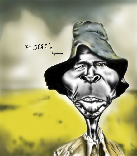 Cartoon: Un Tipo Viejo (medium) by jaime ortega tagged africa,men,hombre,viejo,old,man