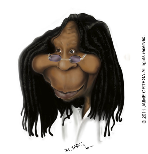 Cartoon: Whoopi Goldberg (medium) by jaime ortega tagged whoopi,goldberg