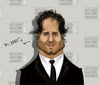 Cartoon: Edgar Ramirez. (small) by jaime ortega tagged edgar,ramirez,golden,globe,actor