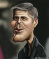 Cartoon: George Clooney (small) by jaime ortega tagged george,clooney