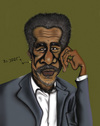 Cartoon: Morgan Freeman (small) by jaime ortega tagged morgan,freeman