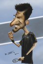 Cartoon: Novak Djokovi (small) by jaime ortega tagged novak,djokovi