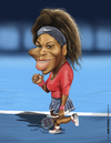 Cartoon: Serena Williams (small) by jaime ortega tagged serena,williams