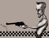 Cartoon: Taxi Driver (small) by jaime ortega tagged taxi,driver,al,pacino,movies