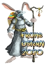 Cartoon: Ostern 2020 (small) by petwall tagged ostern,pandemie,coronavirus,grippe