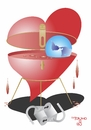 Cartoon: Heart Lock II (small) by Tonho tagged heart,lock