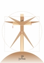 Cartoon: Vitruvius (small) by Tonho tagged vitruvius,crucifix
