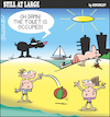 Cartoon: Still at large 110 (small) by bindslev tagged dog,dogs,canine,canines,pet,pets,owner,owners,beach,beaches,seaside,vacation,vacations,holiday,holidays,toilet,toilets,bathroom,bathrooms,occupied,public,fouling