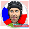 Cartoon: Pert Cech (small) by funny-celebs tagged petrcech goalkeper sport football soccer goal czechrepublic arsenal chelsea