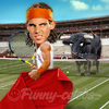 Cartoon: Rafael Nadal (small) by funny-celebs tagged rafa,tennis,player,atp,world,tour,sport,match,grand,slam,manacor,spain,masters,bull,corrida