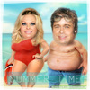 Cartoon: SUMMER TIME (small) by funny-celebs tagged pamelaanderson bredpitt summer summertime sea vacation holliday